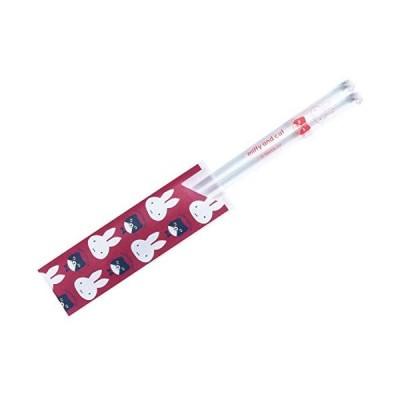 ミッフィー miffy & cat クリア箸 レッド 402597