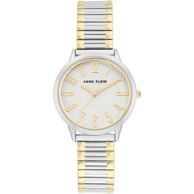 アンクライン レディース 腕時計 アクセサリー Women's Two-Tone Stainless Steel Stretch Bracelet Watch 34mm