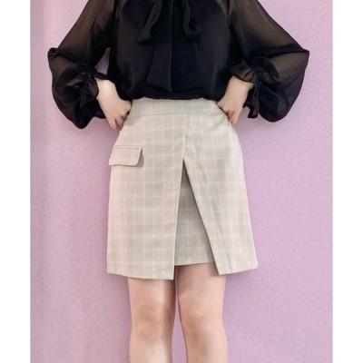 スカート ラップ風ミニスカート