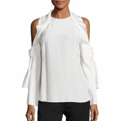 3.1 フィリップ リム レディース トップス シャツ Cold-Shoulder Silk Top