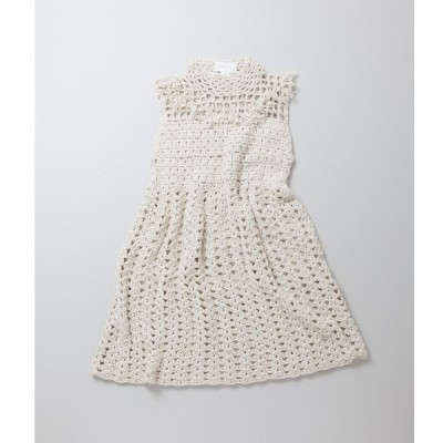 (OUTLET/返品・交換不可)Maydi マイディCrocheted long dress with fringes on the breastplate フリンジニットドレス