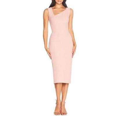 ドレスザポプレーション レディース ワンピース トップス Remi Asymmetrical Neck Sleeveless Midi Sheath Dress