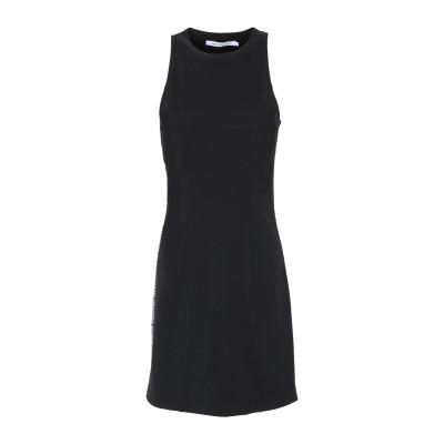 YOOX - CALVIN KLEIN JEANS ミニワンピース&ドレス ブラック M ポリエステル 77% / レーヨン 19% / ポリウレタ