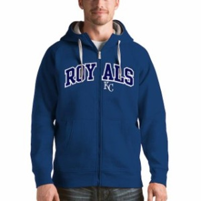 Antigua アンティグア スポーツ用品  Antigua Kansas City Royals Royal Victory Full-Zip Hoodie