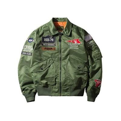 SemiAugust(セミオーガスト)アウター メンズ フライトジャケット ma-1 ブルゾン ワッペン ミリタリー ジャケット ナイロン ジャンパー