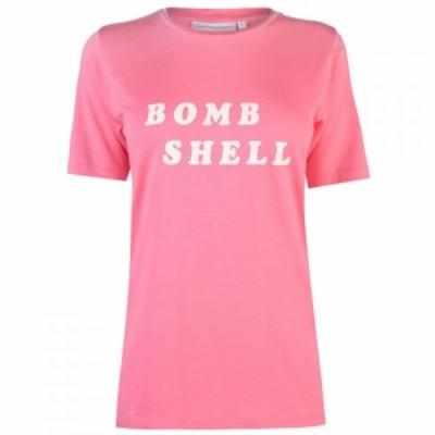 ファビエンヌ シャポット Fabienne Chapot レディース Tシャツ トップス Bomb Shell T Shirt BRIGHT PINK