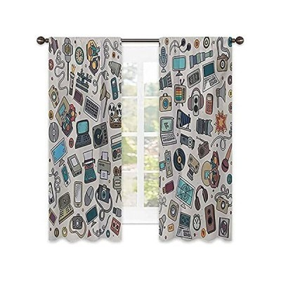 Doodle Heat Insulation Curtain, Complation of Various Office Gadgets Record好評販売中