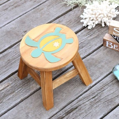 ホヌ ハワイアン スツール 木製 グランピング アンティーク 椅子 インテリア