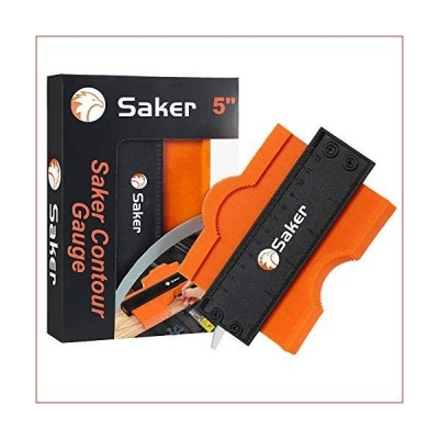 Saker Contour Gauge (5 Inch Lock) Profile Tool- Adjustable Lock-Precisely Copy Irregular Shape Duplicator -Irregular Welding Woodworking Tra