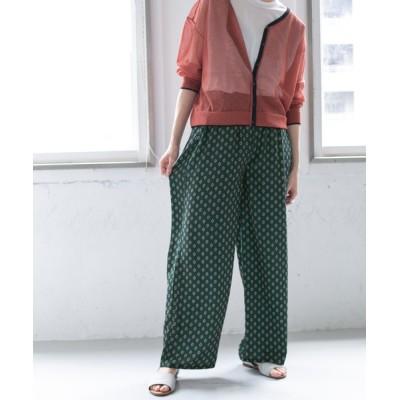 KBF / WEB限定 小紋プリントイージーパンツ WOMEN パンツ > パンツ