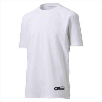 【1点までメール便対応】 [DESCENTE]デサント野球 ジュニア丸首半袖アンダーシャツ (JSTD721)(WHT) ホワイト