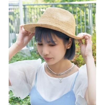 polcadot / ラフィア中折れハット WOMEN 帽子 > ハット