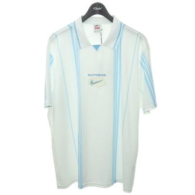 SUPREME×NIKE 2020AW「Jewel Stripe Soccer Jersey」サッカーシャツ ホワイト×ブルー サイズ:XL (渋谷店