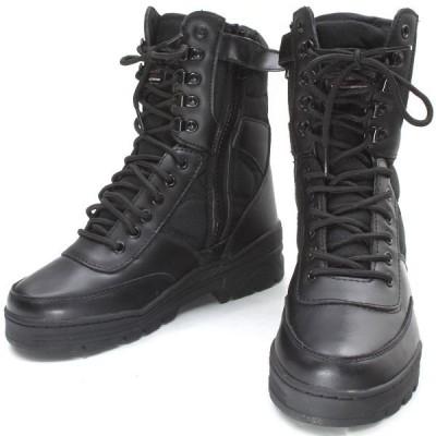 ブーツ サイドジッパー BK ブラック ライラクス タクティカルブーツ 防災 避難 緊急 SWAT スワット コスプレ ハロウィン