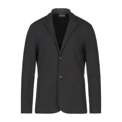 エンポリオ アルマーニ EMPORIO ARMANI テーラードジャケット ブラック 54 ポリエステル 83% / レーヨン 15% / ポリウレ