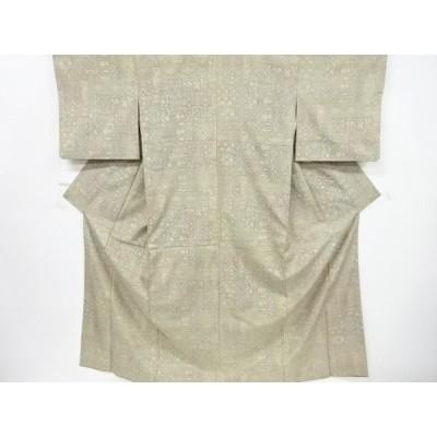 宗sou 更紗模様織り出し西陣お召着物【リサイクル】【着】