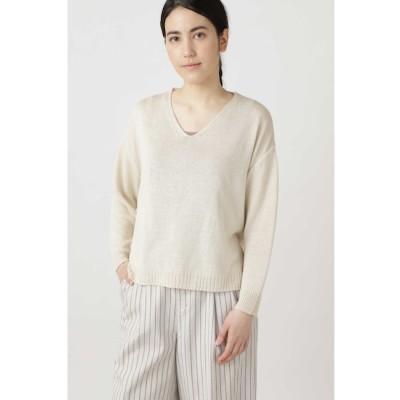 【ヒューマンウーマン/HUMAN WOMAN】 ◆≪Japan couture≫シルク麻プルオーバーニット