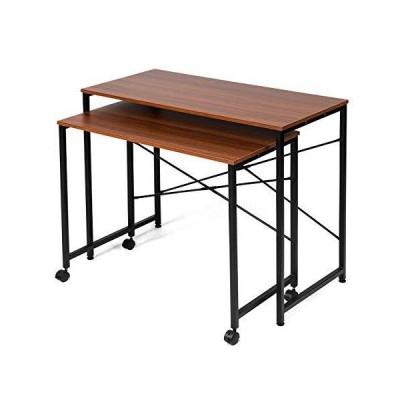 イーサプライ 親子テーブル ネストテーブル 拡張 作業台 学習机 クランプ対応 テレワーク 在宅勤務 省スペース