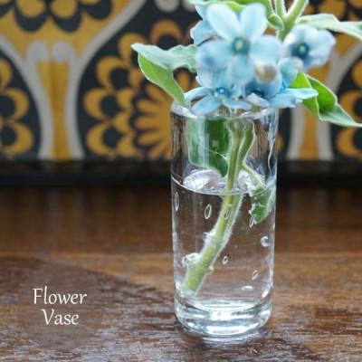 T出荷 フラワーベース1個 硝子ベース 花瓶 ボブクラフト605-6 プチベース泡入 ガラスボトル  FKTS