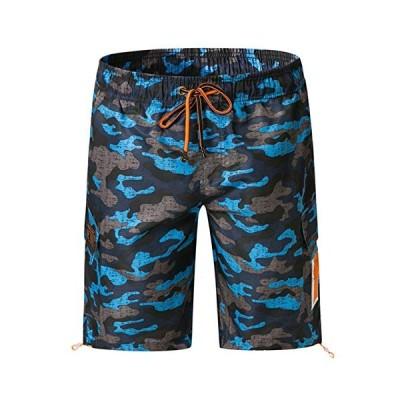 メンズ 水着 サーフパンツ オシャレ スウェット 通気 速乾 メッシュインナー 海パン 水陸両用 温泉 ジョギング