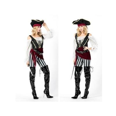 ハロウィン 衣装 パイレーツ キャプテン ワンピース コスプレ 大人用 海賊 船長 女海賊 変装 レディース 女性用 仮装 イベント 舞台衣装 ステージ衣装 | パンツ