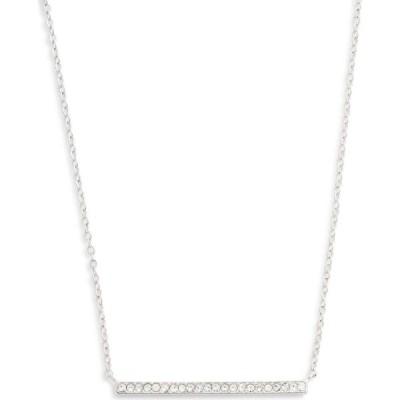 ノードストローム NORDSTROM レディース ネックレス ジュエリー・アクセサリー Pave Bar Pendant Necklace Clear/Silver