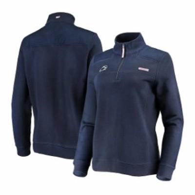 Vineyard Vines ヴィニヤード ヴァインズ スポーツ用品  Vineyard Vines Penn State Nittany Lions Womens Navy Shep Shirt Quarter-Zip