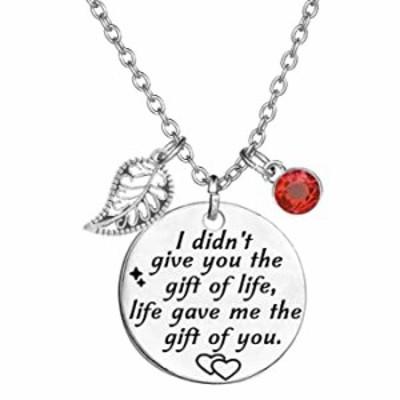 ネックレス TISDA Stepdaughterギフト Daughter in Law ギフト I Didn't Give You The Gift of Life Gave Me The Gift of You ネックレス