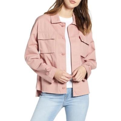 リーバイス LEVI'S レディース ジャケット シャツジャケット アウター Oversize Cotton Canvas Camo Shirt Jacket Rose