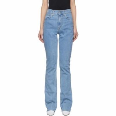 ヘルムート ラング Helmut Lang レディース ジーンズ・デニム ブーツカット ボトムス・パンツ blue femme hi bootcut jeans Light stone