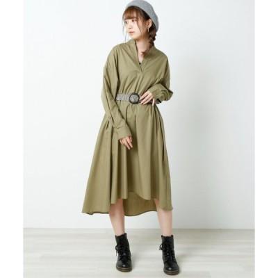【レイカズン】ボリュームシャツワンピース