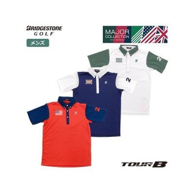 ブリヂストンゴルフ TOUR B MAJOR COLLECTION 半袖シャツ 3GRT1A メンズ BridgestoneGolf 2020春夏