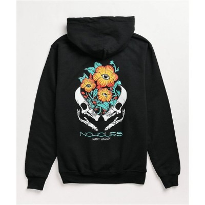NOHOURS レディース パーカー トップス inside out black hoodie Black