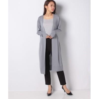 (Leilian/レリアン)【my perfect wardrobe】ロングニットカーディガン/レディース グレー系