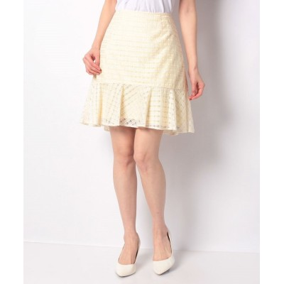 (BAYCREW'S GROUP LADIES OUTLET/ベイクルーズグループアウトレットレディース)シアーチェックペプラムスカート/レディース イエロー