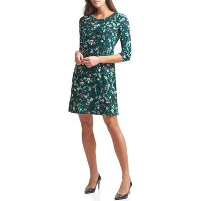 トミー ヒルフィガー レディース ワンピース トップス Floral Print Jersey Dress FOREST MUL