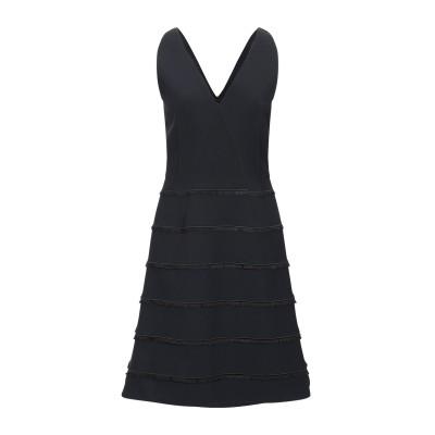 AKRIS PUNTO ミニワンピース&ドレス ブラック 36 ポリエステル 50% / ナイロン 33% / ポリウレタン 12% / ポリウレタ