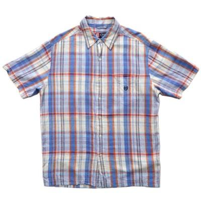 CHAPS チャップス ボックスシャツ チェック 半袖 サイズ表記:M