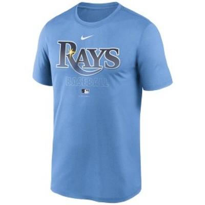 ナイキ メンズ Tシャツ トップス Tampa Bay Rays Men's Authentic Collection Legend Practice T-Shirt LightBlue