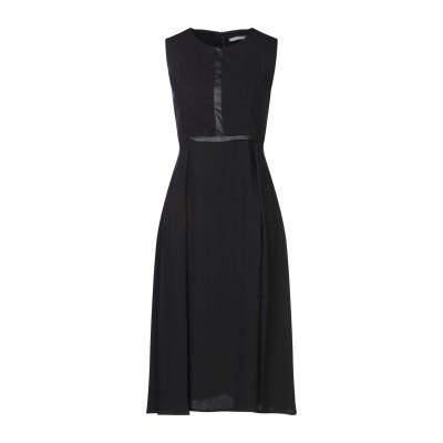 BIANCOGHIACCIO 7分丈ワンピース・ドレス ブラック 40 ポリエステル 100% / ポリウレタン / レーヨン 7分丈ワンピース・ド