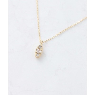ネックレス a Cote◆K10 3粒 ダイヤモンド ローズカット ゴールド ネックレス