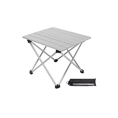 Moon Lence キャンプ テーブル アルミ ロールテーブル アウトドア ハイキング BBQ 折りたたみ式 コンパクト 超軽量 耐荷重23kg 収