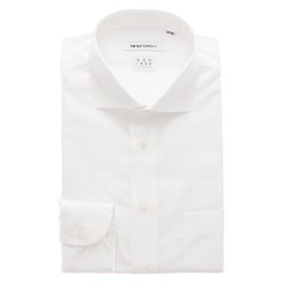 【NON IRON STRETCH】ホリゾンタルカラードレスシャツ 無地 〔EC・FIT〕