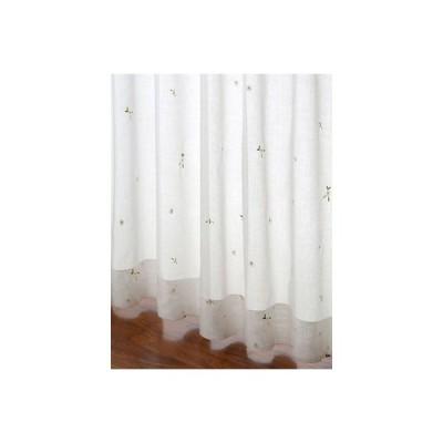 ガーゼ カーテン 小花刺繍カーテン S 1枚/100サイズ/OUL0123