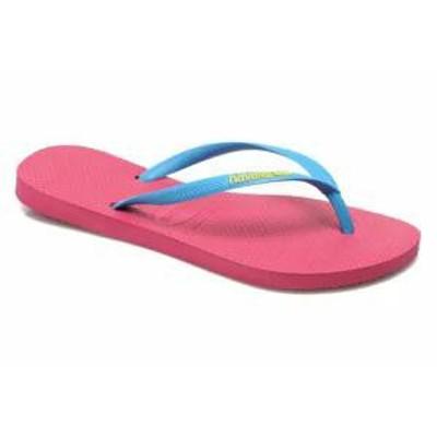 Havaianas メンズサンダル Havaianas Flip flops Slim logo femme Pink Orchid Rose Turquois