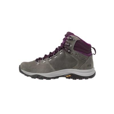 コロンビア シューズ レディース ハイキング 100MW TITANIUM OUTDRY - Hiking shoes - ti grey steel/black cherry