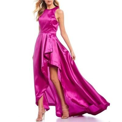 ビーダーリン レディース ワンピース トップス High Neck Bow-Back Ruffle High-Slit Dress