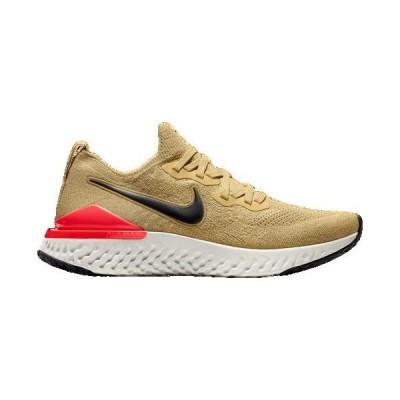 (取寄)ナイキ メンズ エピック リアクト フライニット 2 Nike Men's Epic React Flyknit 2 Club Gold Metallic Gold Black Red Orbit
