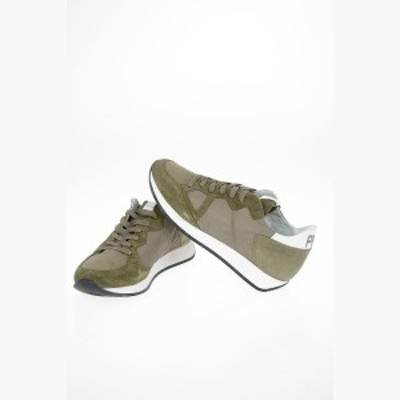 PHILIPPE MODEL/フィリップ モデル スニーカー Green メンズ 秋冬2019 Fabric and Leather MONACO VINTAGE Sneakers dk