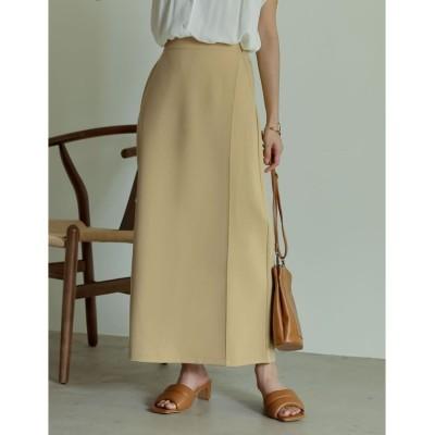 【リエディ】 ストレッチツイルラップカラースカート レディース ベージュ MT(008) Re:EDIT